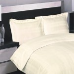 Variable Stripe Cream Duvet set