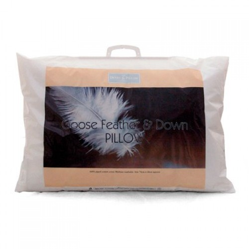 Pillow White Goose Feather Down Pillow Mibed