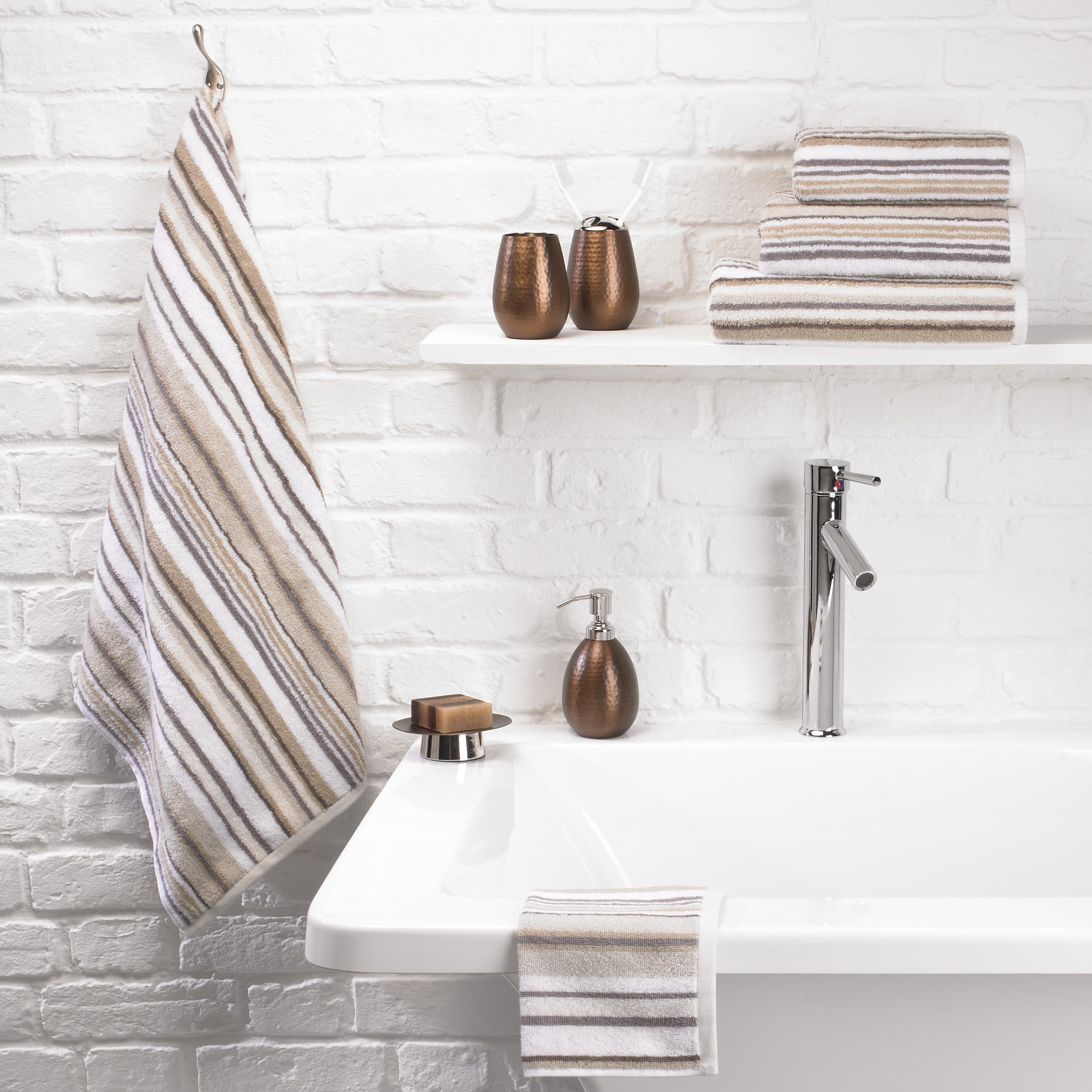 Stripe Towels beige
