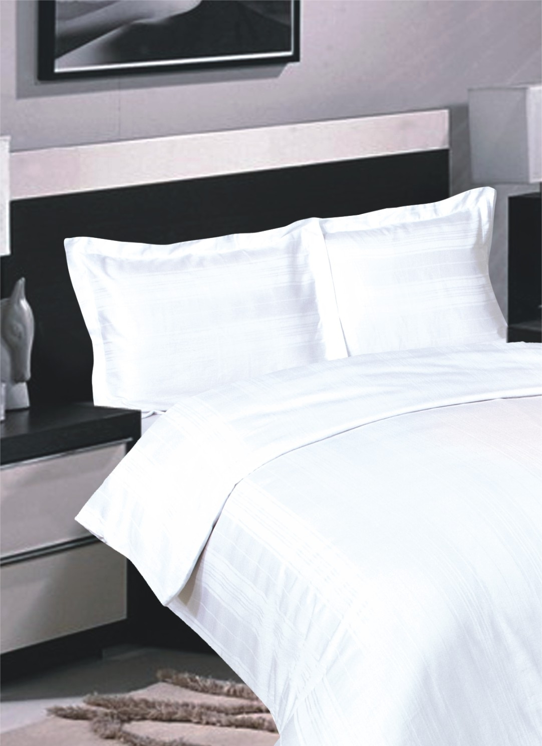 a64f2a3c2c ... Egyptian Cotton Duvet Cover Sets. Variable stripe White