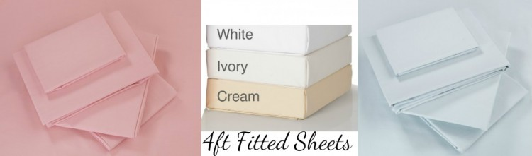 Fitted Sheets - 4Ft bed