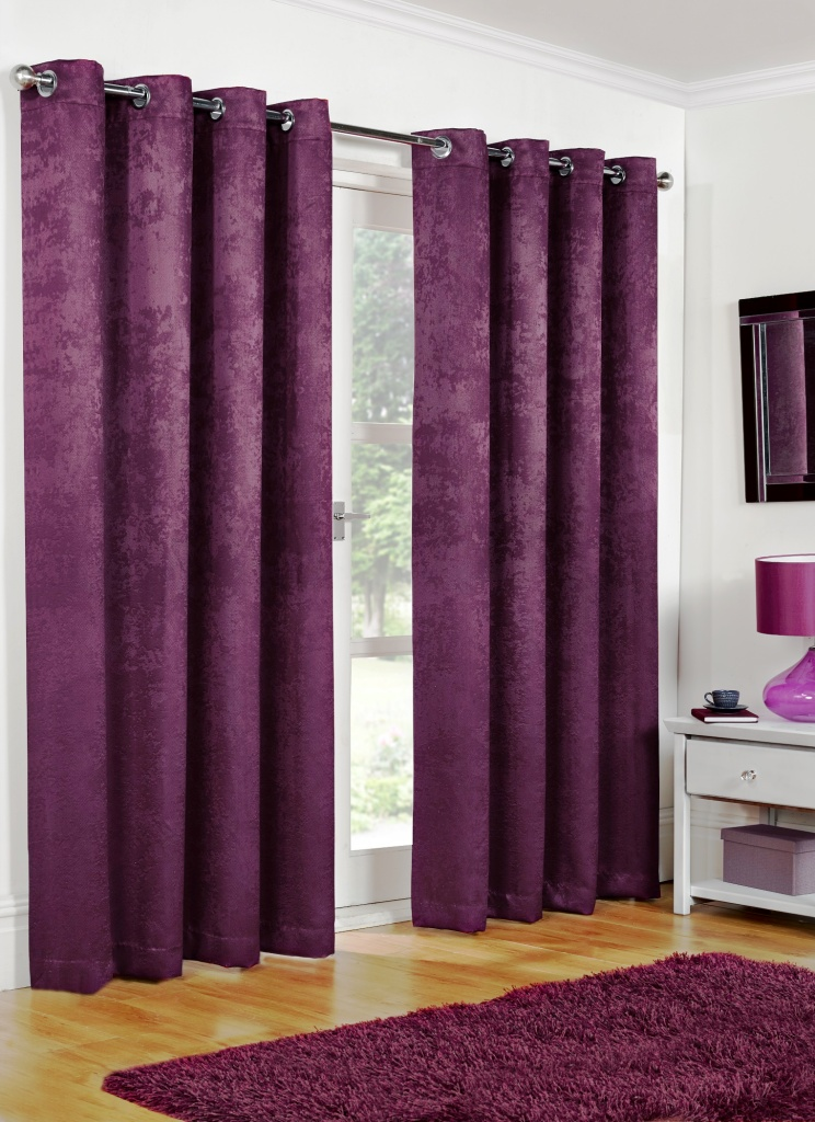 Blackout Curtains - Aubergine