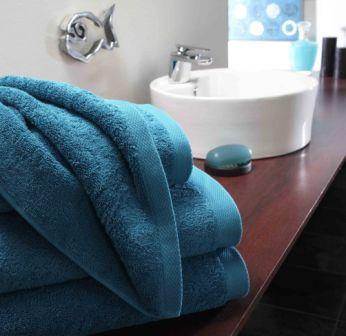 Pima Cotton Towels - Cyan
