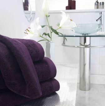 Pima Cotton Towels - Damson
