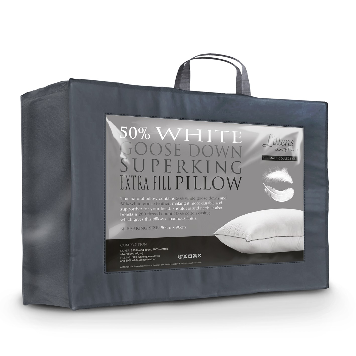 Superking Goose Down and Feather Pillow